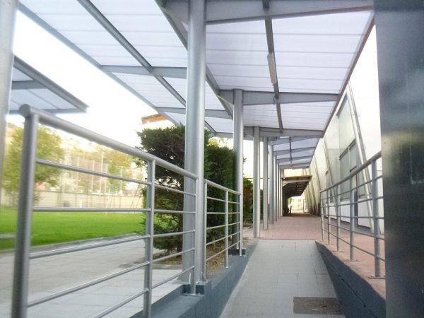 Estructura cubiertas en Polideportivo Zorroza